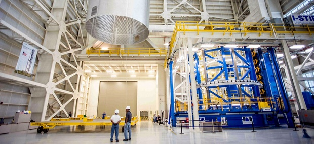 The barrel for the engine section of NASA's new rocket, the Space Launch System.