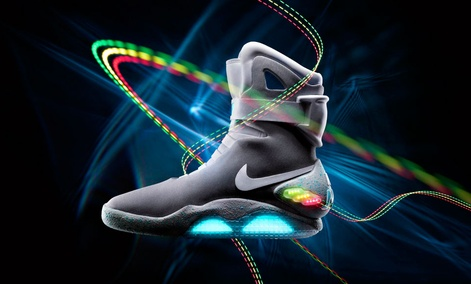 "The 2011 Nike Mag is based on a glowing pair that appeared in the popular 1989 movie ""Back to the Future II."""