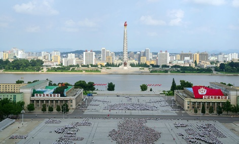 View of downtown Pyongyang, capital of the North Korea