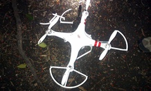 The drone that crashed onto the White House grounds in Washington, Monday, Jan. 26, 2015.