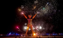 A scene from the 2014 Burning Man festival.