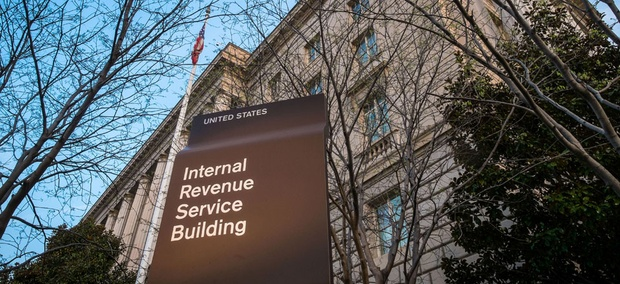 The IRS building is seen in Washington.