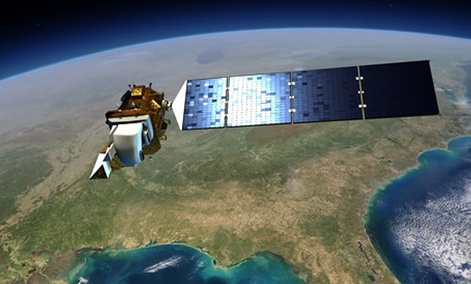 An artist's depiction of Landsat 8, which launched in 2013.