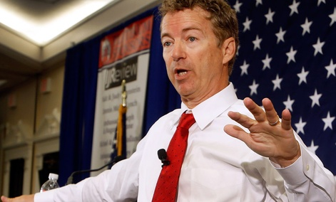 Republican presidential hopeful Sen. Rand Paul, R-Ky.
