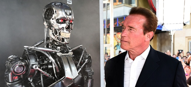 "Arnold Schwarzenegger arrives at the LA Premiere of ""Terminator Genisys"" at Dolby Theater on Sunday, June 28, 2015."