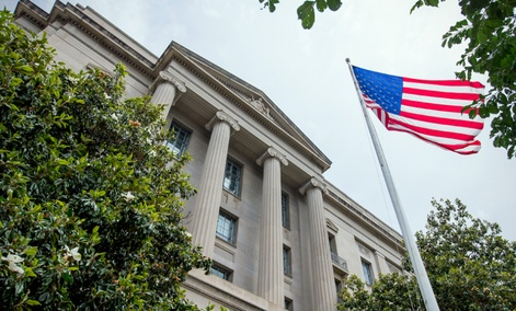 Robert F. Kennedy Department of Justice Building, Friday, June 19, 2015, in Washington.