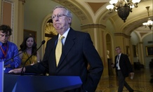 Senate Majority Leader Mitch McConnell of Ky., speaks to reporters on Capitol Hill in Washington, Thursday, July 30, 2015. (AP Photo/Susan Walsh)