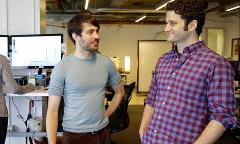 Dustin Moskovitz, right, at his new company.