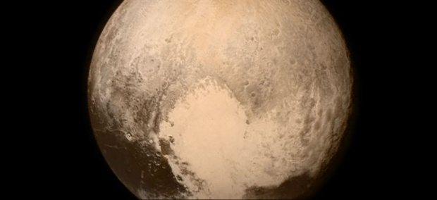 This image of Pluto was taken from the Long Range Reconnaissance Imager (LORRI) aboard NASA's New Horizons spacecraft, on July 13, 2015.