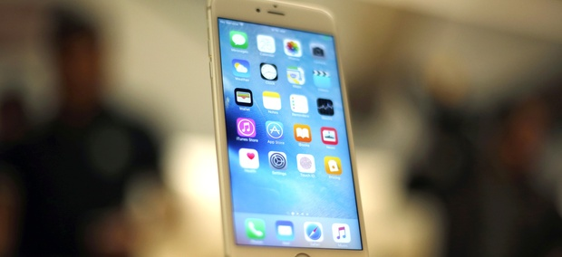 A new Apple iPhone 6S is displayed at an Apple store in Chicago.