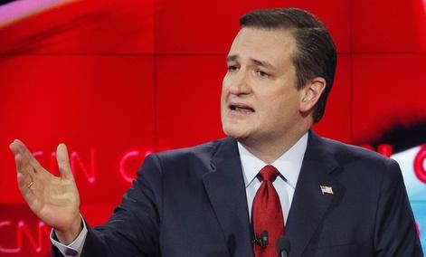 Ted Cruz speaks during the CNN Republican presidential debate.