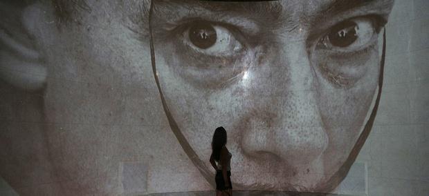 A Salvador Dali exhibition at the Pushkin Art Museum in Moscow, Russia
