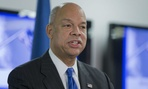 Homeland Security Secretary Jeh Johnson discusses the updates to the National Terrorism Advisory System (NTAS), Wednesday, Dec. 16, 2015, at the Federal Emergency Management Agency (FEMA) National Response Coordination Center in Washington.
