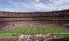 A general view of Levi's Stadium in San Francisco.