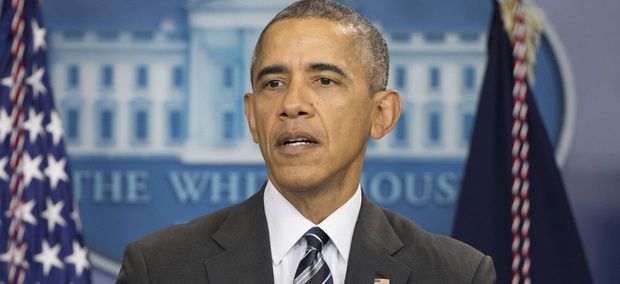 In this Feb. 5, 2016 file photo, President Barack Obama speaks in the Brady Press Briefing Room of the White House in Washington.