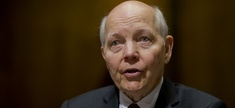 Internal Revenue Service Commissioner John Koskinen, testifies before a Senate Finance Committee hearing on President Barack Obama's Fiscal Year 2017 budget request for the IRS, on Capitol Hill in Washington, Wednesday, Feb. 10, 2016.