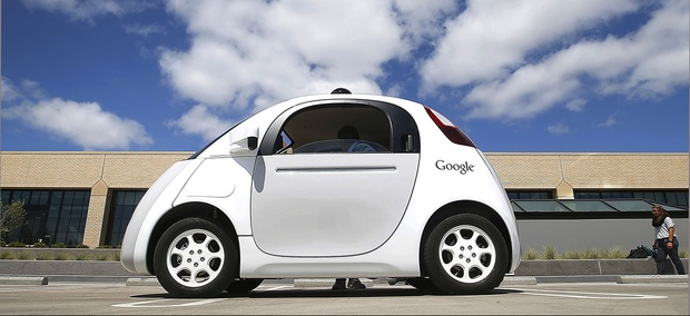 Google's new self-driving car during a demonstration at the Google campus in Mountain View, Calif.