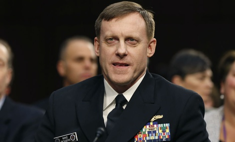 In this photo taken Feb. 9, 2016, U.S. Cyber Commander Commander, National Security Agency Director Adm. Michael Rogers testifies on Capitol Hill in Washington.