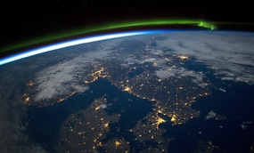 A view of Scandinavia from aboard the International Space Station.