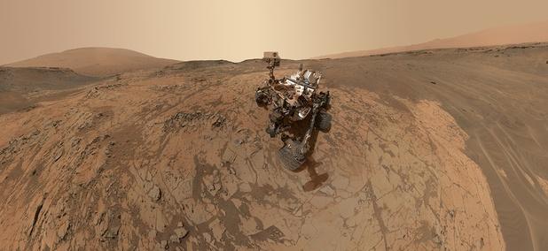 NASA's Curiosity Rover explores Mars.