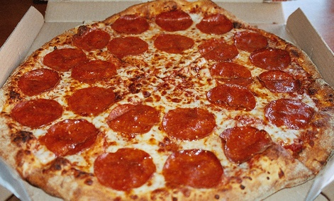 Domino's Brooklyn-style pizza.