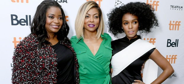 "Octavia Spencer, Taraji P. Henson and Janelle Monae play NASA mathematicians in the movie ""Hidden Figures"""