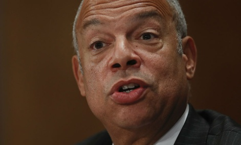 Homeland Secretary Jeh Johnson testifies on Capitol Hill in Washington, Tuesday, Sept. 27, 2016.