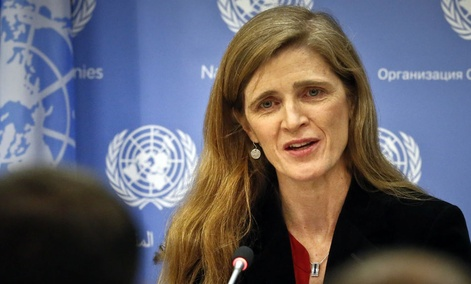 United States U.N. Ambassador Samantha Power speaks during her final press conference, Friday, Jan. 13, 2017 at U.N. headquarters.