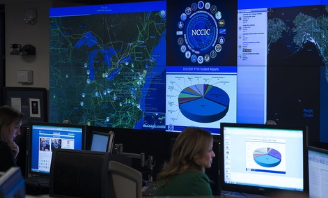 A view of the National Cybersecurity and Communications Integration Center in Arlington, Va.
