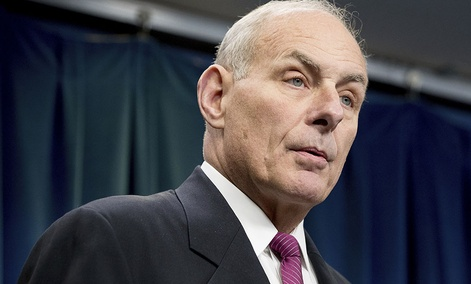 Homeland Security Secretary John Kelly speaks at a news conference at the U.S. Customs and Border Protection headquarters in Washington, Tuesday, Jan. 31, 2017.