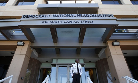 The Democratic National Committee headquarters is seen, Tuesday, June 14, 2016 in Washington.