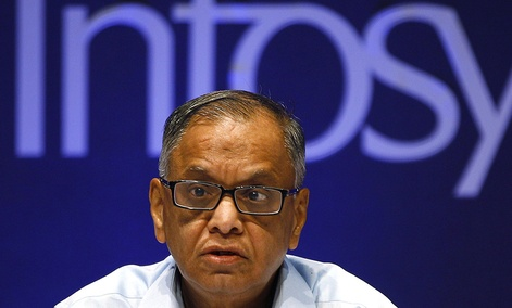 N. R. Narayana Murthy, Executive Chairman of Indian tech giant Infosys.