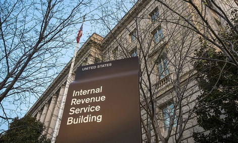 The Internal Revenue Service headquarters building in Washington.