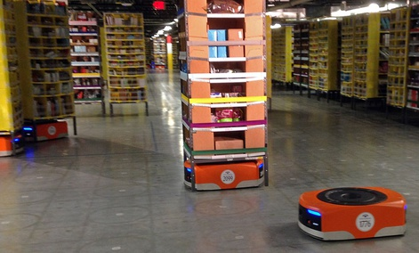 A Kiva robot drive , ... ]