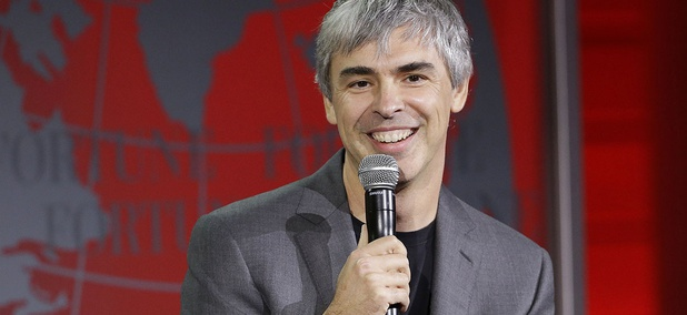 Alphabet CEO Larry Page speaks at the Fortune Global Forum in San Francisco.
