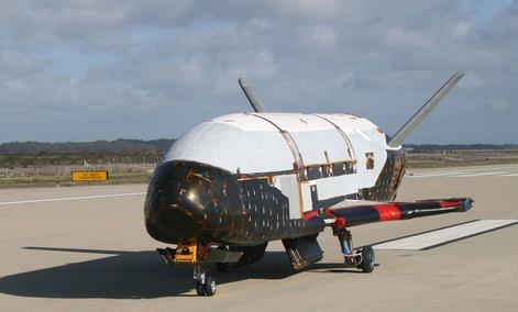 The X-37B Orbital Test Vehicle at Vandenberg Air Force Base, Calif.