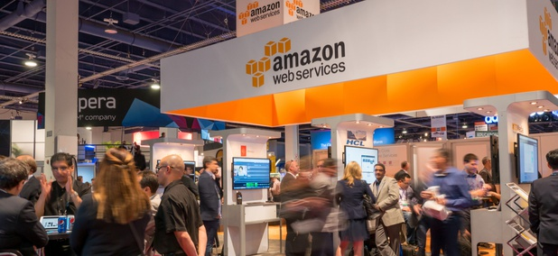 An Amazon Web Services exhibition in Las Vegas in 2015.