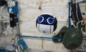JEM Internal Ball Camera taking a video.