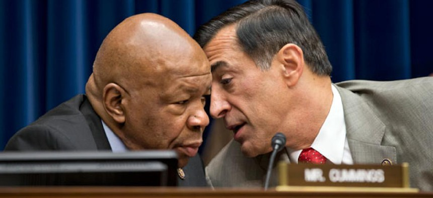 Reps. Darrell Issa, R-Calif., right,  and Elijah Cummings, D-Md., are the chairman and ranking member of the House Oversight and Government Reform Committee.