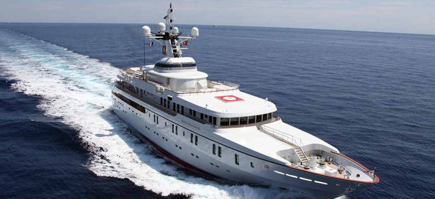 A University of Texas research team successfully performed GPS spoofing attacks on this 213 foot yacht while it traveled on the Mediterranean Sea.