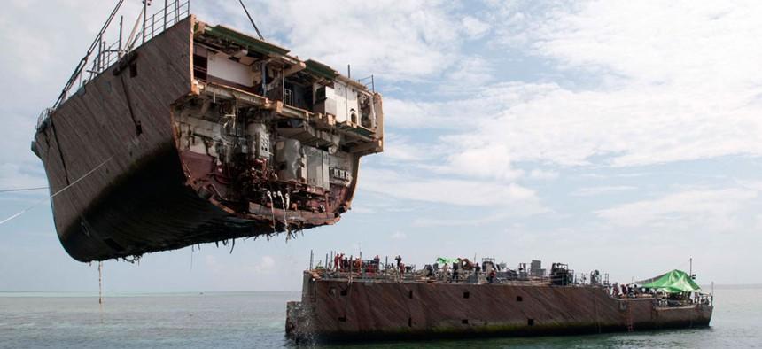 The USS Guardian ran aground on the Tubbataha Reef Jan. 17.