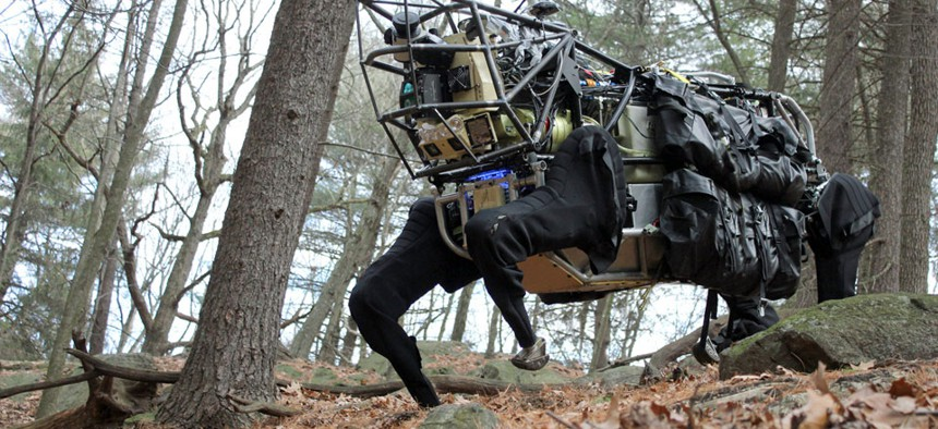The Defense Advanced Research Projects Agency's Legged Squad Support System will relieve troops of their 100-pound equipment load.