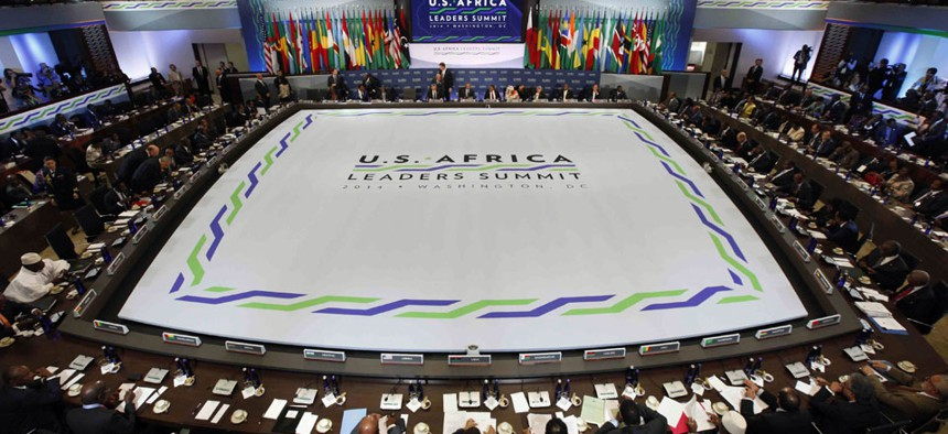 African heads of state are gathering in Washington for an unprecedented summit to promote business development.