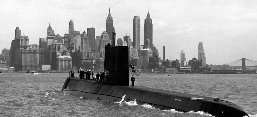 The USS Nautilus, pictured, was the world's first nuclear-powered submarine.