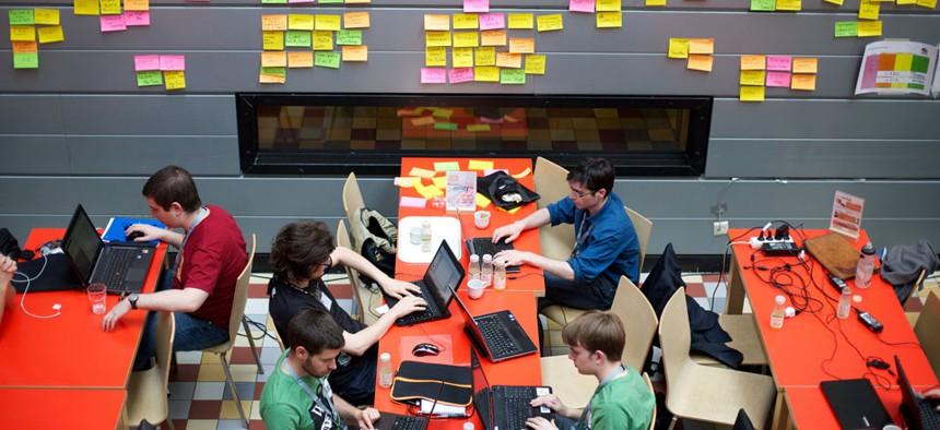 Wikimedia's annual development community meet-up — the Wikimedia Hackathon — was held in Amsterdam, Netherlands in 2013.
