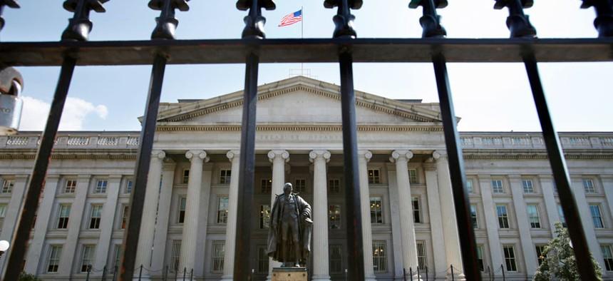 The Treasury Department building in Washington
