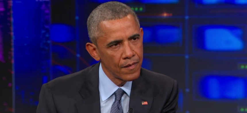 Obama appeared on The Daily Show July 21