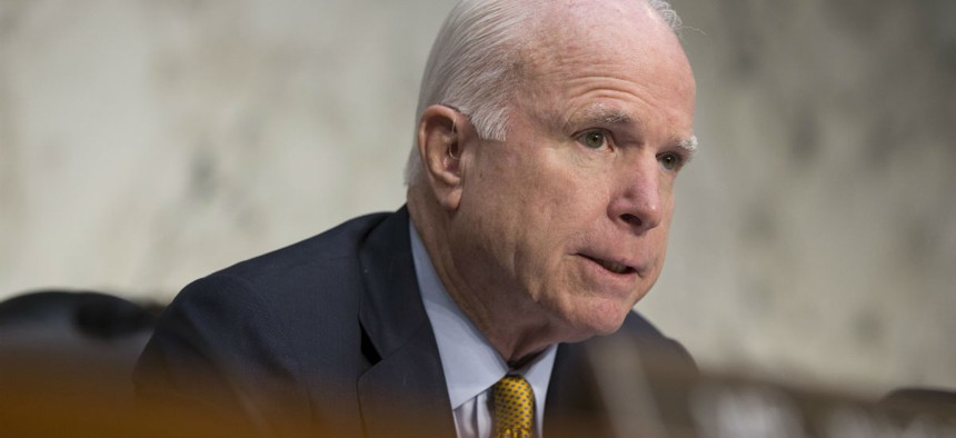 Senate Armed Services Committee Chairman Sen. John McCain, R-Ariz.