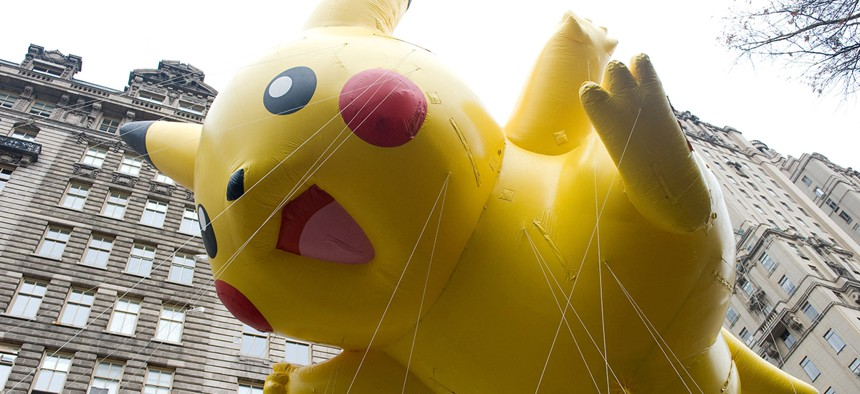 Pikachu sees all.