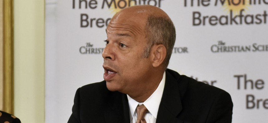Secretary of Homeland Security Jeh Johnson delivers remarks at the Christian Science Monitor Breakfast, Aug. 3, 2016.